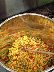 corn relish stock pot - colors