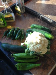 pepper and vegetables for hot veggies pickle mix