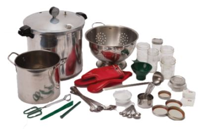 Canning Supplies and Pressure canner with The Canning Diva