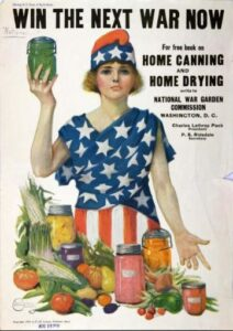 Win the War World War I Canning Advertisment - National Agricultrural Library USDA